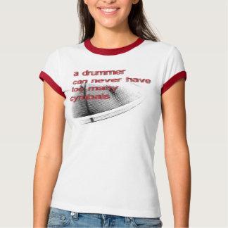 女性シンバル Tシャツ