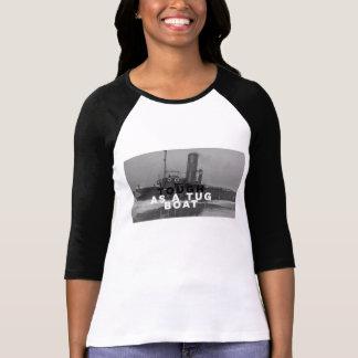 女性タグボートとして堅い3/4枚の袖のRaglanのTシャツ Tシャツ