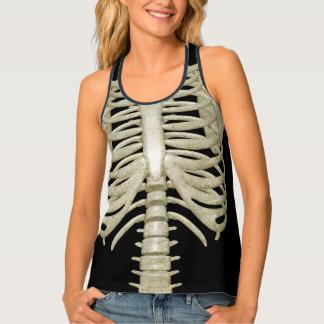 女性ハローウィンパーティの衣裳の骨組肋骨 タンクトップ
