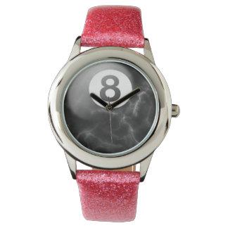 女性ピンクの大理石8の球の腕時計 腕時計
