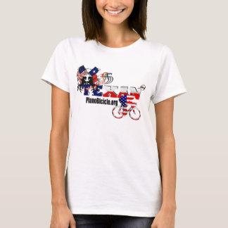 女性ベビードールのテキサス州のサイクリングによって合われるTシャツ Tシャツ