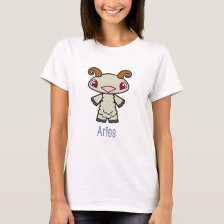 女性ベビードールの牡羊座のワイシャツ Tシャツ