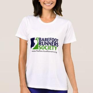 女性マイクロtロゴURL+背部URL Tシャツ