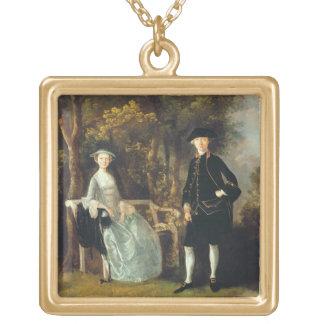 女性ロイドおよび彼女の息子、HのRichard Savageロイド、 ゴールドプレートネックレス
