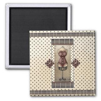 女性ヴィンテージのビクトリアンなコルセットの冷蔵庫用マグネット マグネット