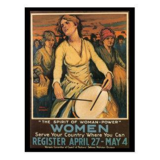 女性力の第二次世界大戦 ポストカード