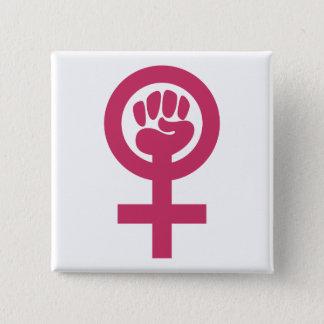 """女性力2""""正方形ボタン 缶バッジ"""