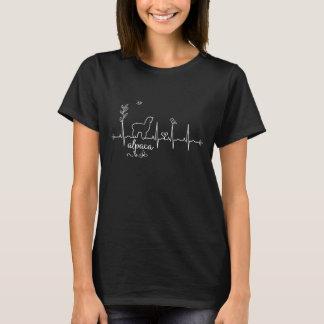 女性及び女の子のためのアルパカの心拍のTシャツ Tシャツ