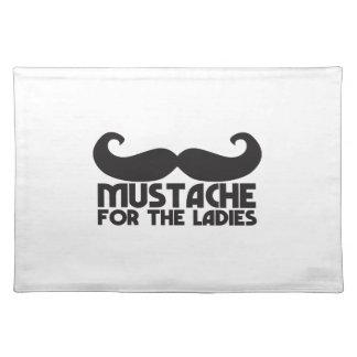女性口ひげNPのデザインのための髭 ランチョンマット