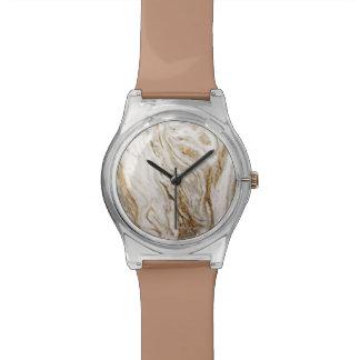 女性大理石の一見の抽象芸術の地球の調子 腕時計