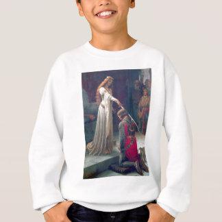 女性女王のナイト爵に叙する騎士旧式な絵画 スウェットシャツ