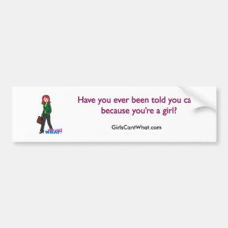 女性実業家のライトか赤 バンパーステッカー