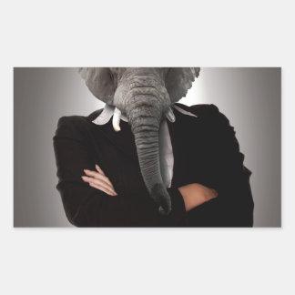 女性実業家の概念のイメージ 長方形シール