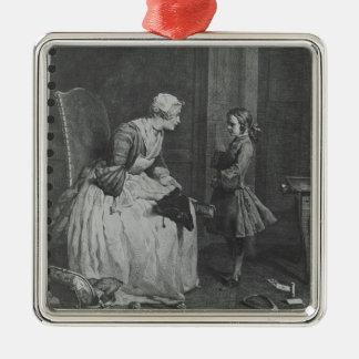 女性家庭教師1739年 メタルオーナメント