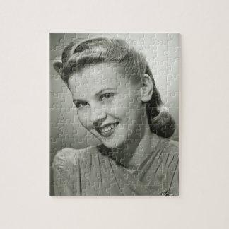 女性微笑の2 ジグソーパズル