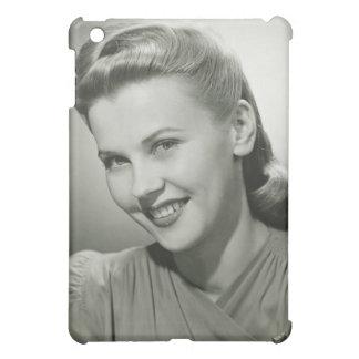 女性微笑の2 iPad MINI カバー
