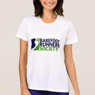 女性性能のmicrofiberのティーのロゴ tシャツ