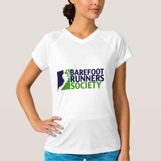 女性性能のmicrofiberタンクロゴ tシャツ