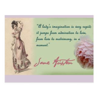 女性想像、ジェーンAustenの引用文 ポストカード