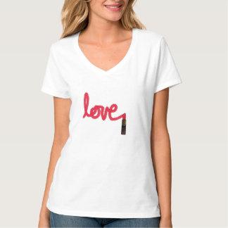 女性愛口紅のTシャツ Tシャツ