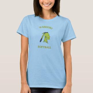 女性戦士のソフトボール Tシャツ