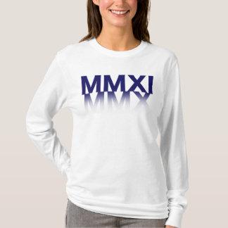女性新年、ローマ数字 Tシャツ