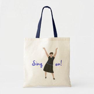 女性歌手は、カラオケ袋に入れます歌います トートバッグ