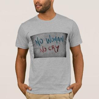 女性無し叫びのタイポグラフィメンズTシャツ無し Tシャツ