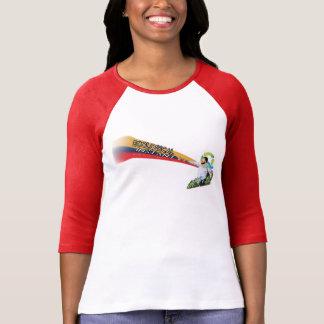 女性生態学的な即刻のRaglan Tシャツ