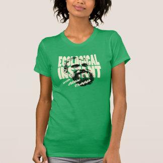 女性緑の生態学的な即刻のワイシャツ Tシャツ