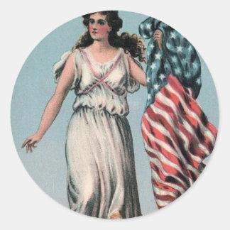 女性自由のステッカー ラウンドシール