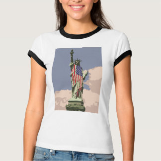 女性自由の女神 Tシャツ