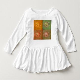 女性虫の小さな女の子のワイシャツ ドレス