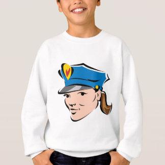 女性警察役人 スウェットシャツ