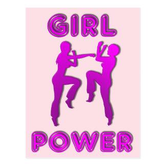 女性郵便はがきを小競合する女の子力の武道 ポストカード