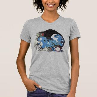 女性青のティー Tシャツ