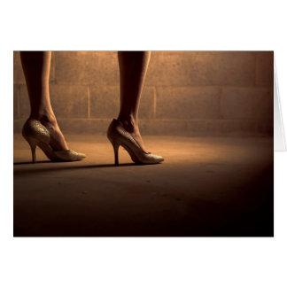 女性靴-空白のな挨拶状 グリーティングカード