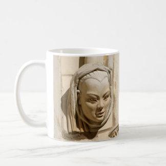 女性顔のマグ コーヒーマグカップ
