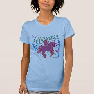女性馬場馬術のワイシャツを踊ろう Tシャツ