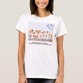 """女性黄色いベビーのTシャツ、""""鶏"""" Tシャツ"""