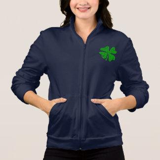 女性|の緑のシャムロックのためのセントパトリックの日のジャケット
