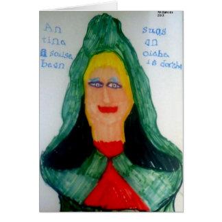女性(アイルランドのゲール語)の炎Notecard カード