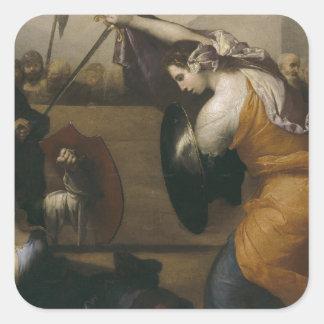 女性(イザベラde Carazziの決闘の決闘 スクエアシール