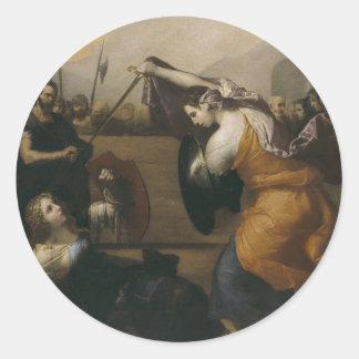 女性(イザベラde Carazziの決闘の決闘 ラウンドシール