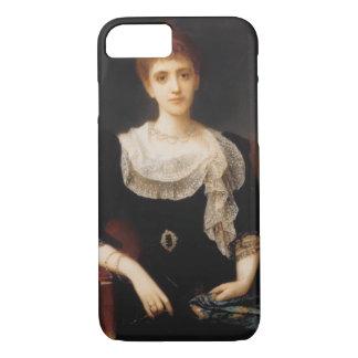 女性(キャンバスの油)のポートレート2 iPhone 8/7ケース