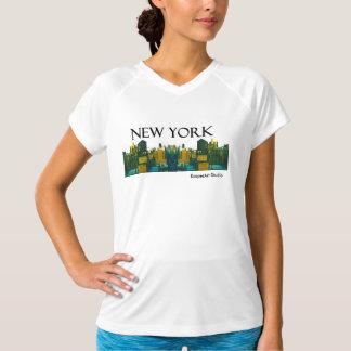 """女性""""ニューヨーク""""のActivewearのワイシャツ Tシャツ"""