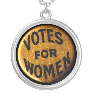 女性-ネックレスのための投票 シルバープレートネックレス