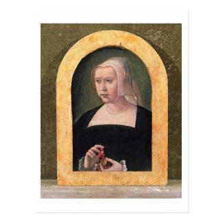 女性(パネル)のポートレート ポストカード