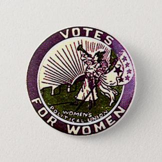 女性-ボタンのための投票 缶バッジ