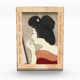 女性、口紅Torii Kotondoの12の面 表彰盾